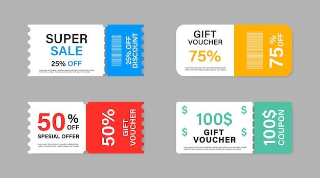 Collection de vente de promotion de coupon.