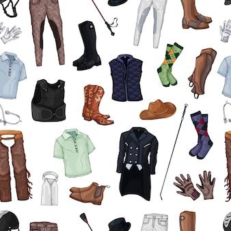 Collection de vêtements de cavalier