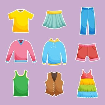 Collection de vêtements différents