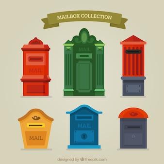 Collection de vieilles boîtes aux lettres