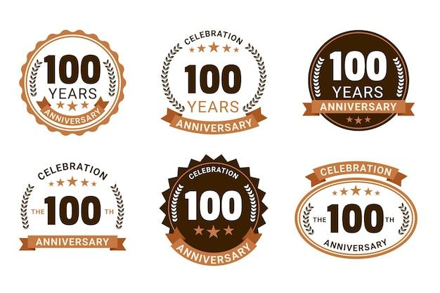 Collection vintage de badge 100 anniversaire