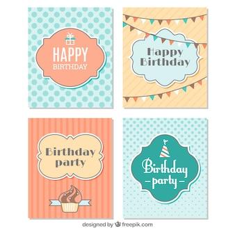 Collection vintage de cartes d'anniversaire