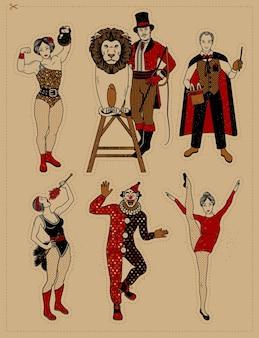 Collection vintage de cirque.