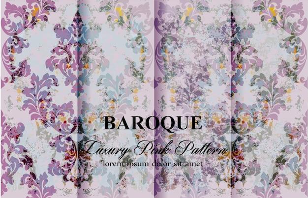Collection vintage de motifs baroques floraux colorés