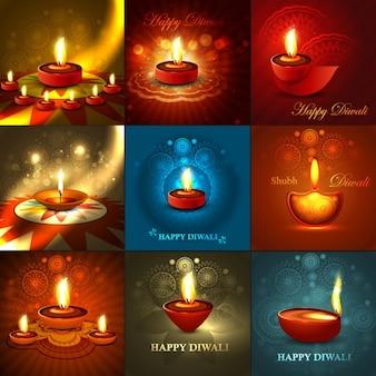 Collection de voeux de diwali