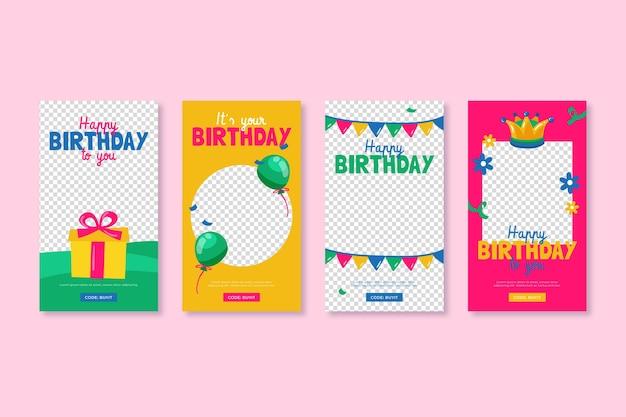 Collection de voeux de joyeux anniversaire