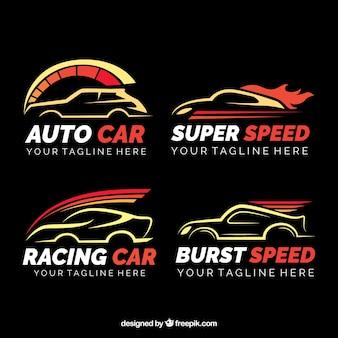 Collection de voiture logo plat