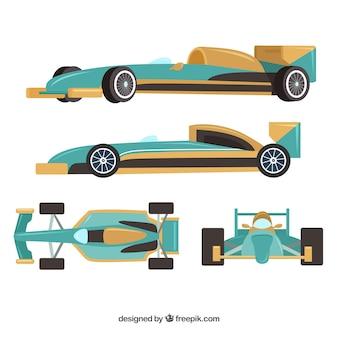 Collection de voitures de course f1