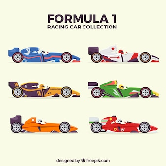 Collection de voitures de course f1