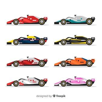 Collection de voitures de course de formule 1