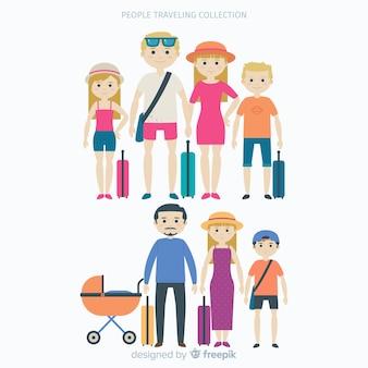 Collection de voyage en famille