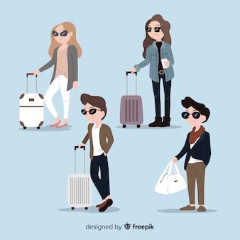 Collection de voyageurs