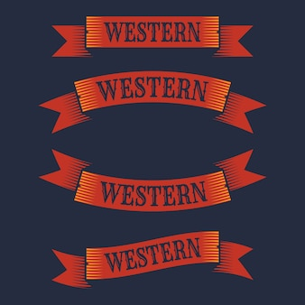 Collection western ribbons