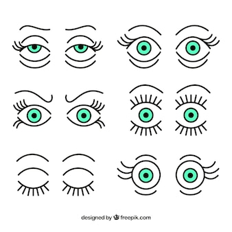 Collection des yeux expressifs