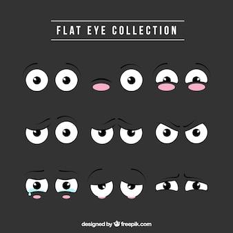 Collection des yeux ronds belle de bande dessinée