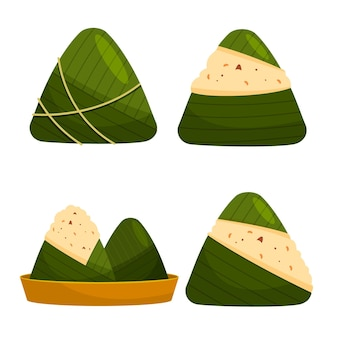Collection zongzi du bateau dragon plat