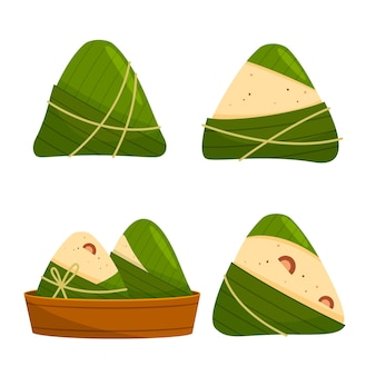 Collection zongzi du bateau dragon plat