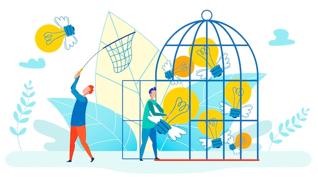 Collectionner les innovations metaphor flat illustration