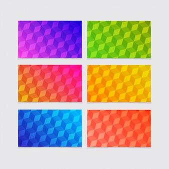 Collections d'arrière-plan de formes géométriques dégradées colorées