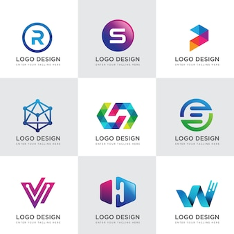 Collections de conception de logo tech