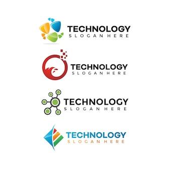 Collections de designs de logo tech