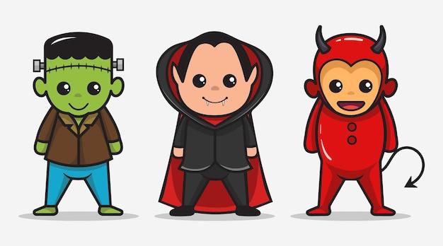 Collections d'halloween de mascotte de costume de personnage mignon