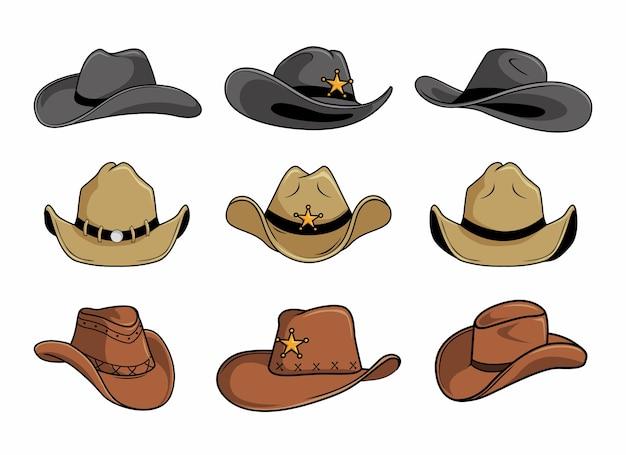 Collections de jeux de chapeau de cowboy