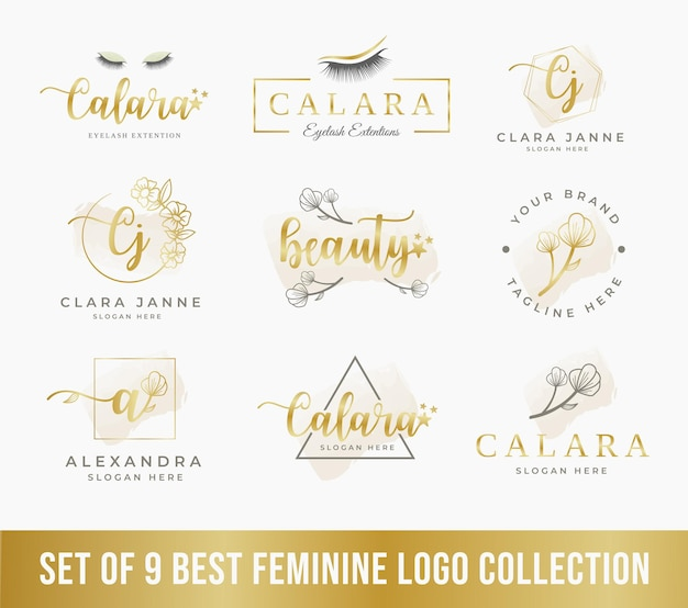 Collections de logos féminins parfaits pour le logo d'une entreprise de beauté