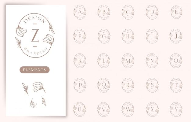 Collections de logos de lettres florales féminines