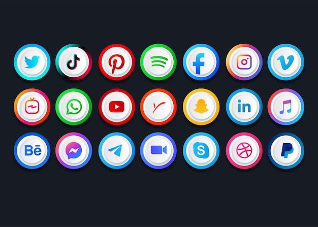 Collections de logos de médias sociaux