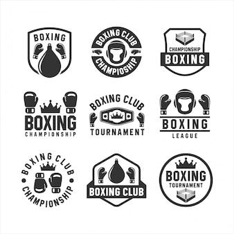 Collections de logos de tournoi de club de boxe