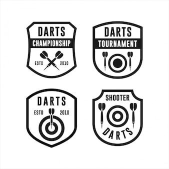 Collections de logos de tournois de championnat de fléchettes