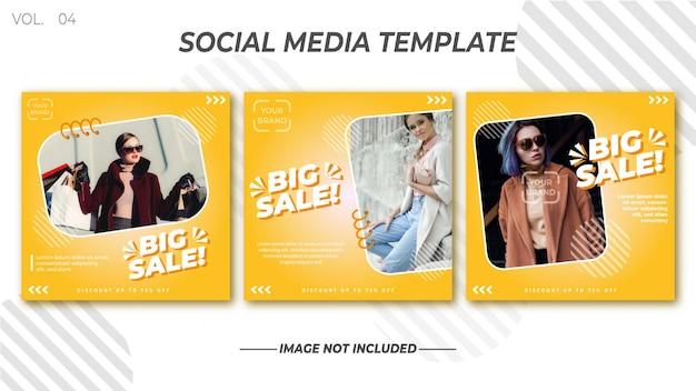 Collections de modèles de médias sociaux