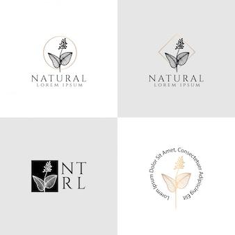 Collections de modèles modifiables logo floral féminin