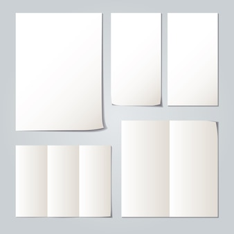 Collections de papier plié blanc