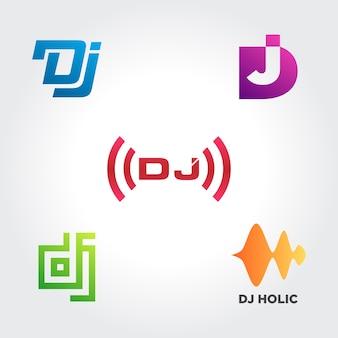 Collections de symboles d'entreprise disk jockey