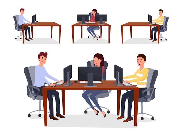 Collègues, équipe de programmeurs