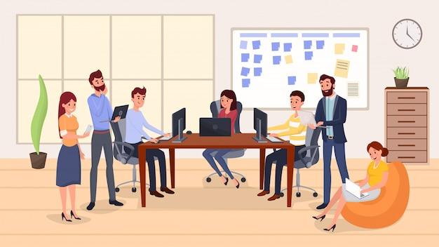 Collègues groupe réunion
