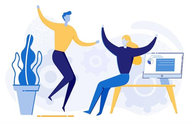 Collègues de travail, pigistes, startups réjouissez-vous des résultats du travail.