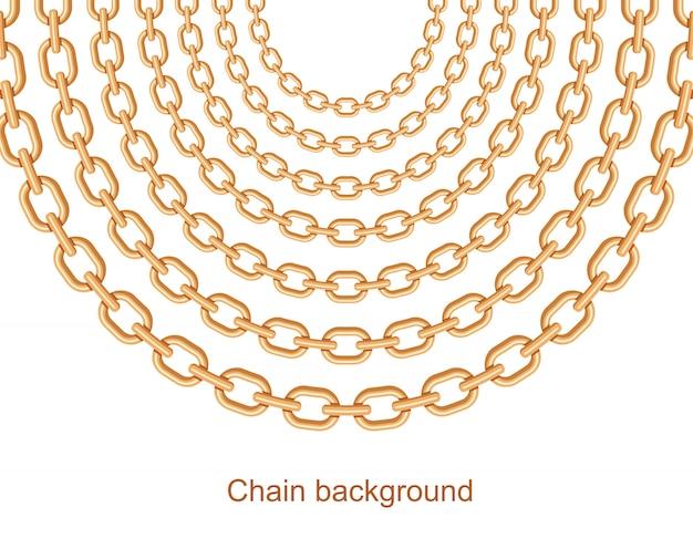 Collier en métal avec chaînes et fond
