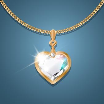 Collier avec pendentif sur une chaîne en or