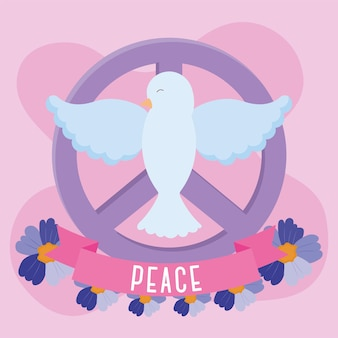 Colombe blanche de la paix