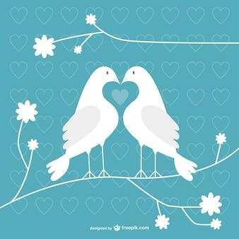 Colombes valentine