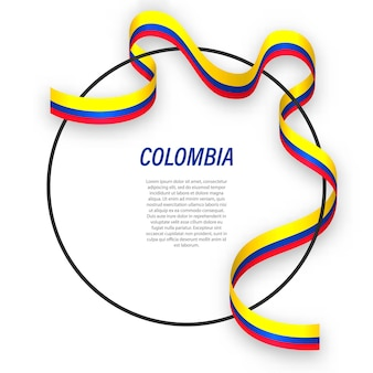 Colombie 3d avec drapeau national.