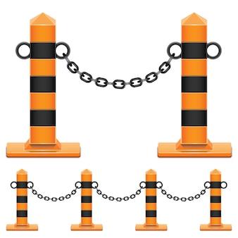 Colonne de vecteur avec chaîne