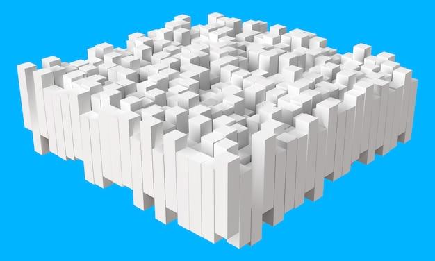 Colonnes empilées avec des hauteurs aléatoires