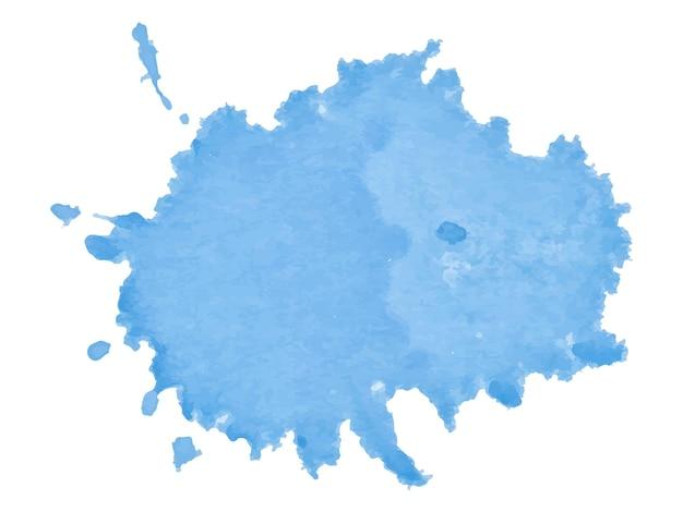 Coloré abstrait bleu doux aquarelle tache aquarelle peinture bleu splash vector illus...