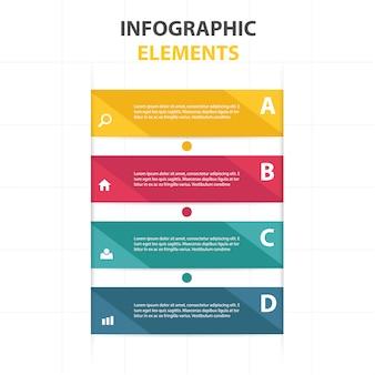 Coloré abstrait modèle infographique d'affaires
