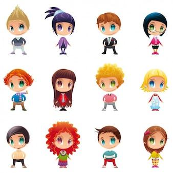Coloré avatars collection