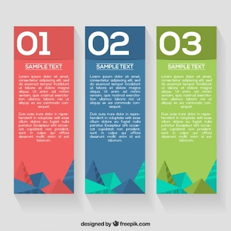Coloré bannières infographiques modèle